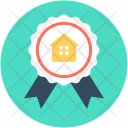 Ribbon Badge House Icon