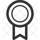 Ribbon Symbol Medallion Icon