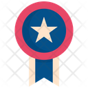 Ribbon Decoration Usa Icon