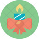 Ribbon Candle Party Icon