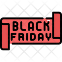 Ribbon Black Friday Sale Icon