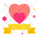 Ribbon Heart Love Icon
