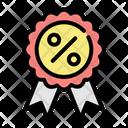 Ribbon Quality Ecommerce Icon