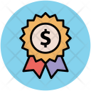 Ribbon Badge Dollar Icon