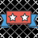 Ribbon Star Flag Icon