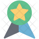 Ribbon Badge Star Icon