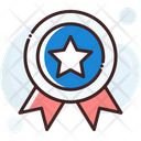 Ribbon Badge Medal Prize Icon