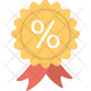 Ribbon Badge Quality Icon