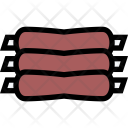 Ribs Vegetables Fruit Icon