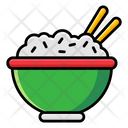 Rice Bowl Food Cooked Rice Icon