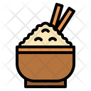 Rice Bowl Rice Oriental Icon