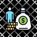 Human Money Bag Icon