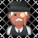 Rich Man Monocle Businessman Icon