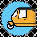 Rickshaw Tuktuk Auto Rickshaw Icon
