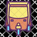 Iindian Auto Rickshaw Icon