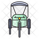 Rickshaw Transport Public Icon