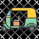 Rickshaw Transport Vehicle Icon