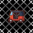 Rickshaw Auto Transport Icon
