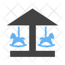 Flying Horses Amusement Icon
