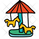 Ride Roundabout Amusement Icon