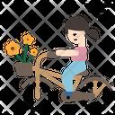 Riding Bicycle Bike Icon