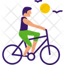 Riding Cycle Icon