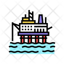 Sea Petrol Rig Icon