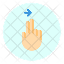 Right Finger Gesture Icon