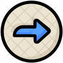 Social Arrow Right Icon