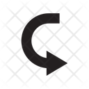 Right Curve Turn Icon