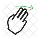 Three Fingers Right Icon