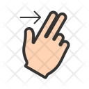 Two Fingers Right Icon