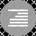 Right Align Alignment Icon