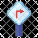 Right Turn Road Arrow Direction Arrow Icon