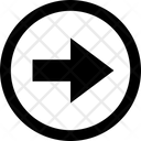 Arrow Circle Right Arrow Right Side Icon