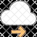 Right Arrow Cloud Technology Arrow Pointing Icon