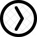 In Circle Arrow Icon