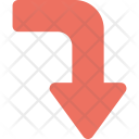 Right Arrow Curving Down Icon