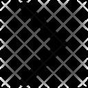 Right Arrow Path Icon