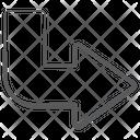 Right Bend U Turn Arrowhead Icon