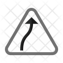 Right Bend Sign Icon