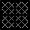 Right Border Interface Essentials Table Regular F Icon