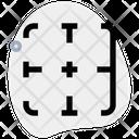 Right Border Interface Essentials Table Green F Icon