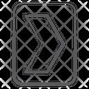 Right Chevron Arrow Right Arrowhead Icon