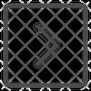 Right Chevron Square Icon