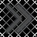 Right Chevrons Icon