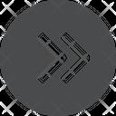 Right Chevrons Circle Icon
