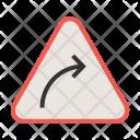 Right curve Icon