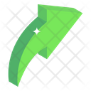 Right Curve Arrow Icon