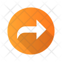 Curved Arrow East Icon